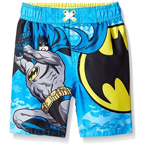 [DC Comics Boys 2T-4T Batman Swim Trunk (4T)] (The Riddler Suit)