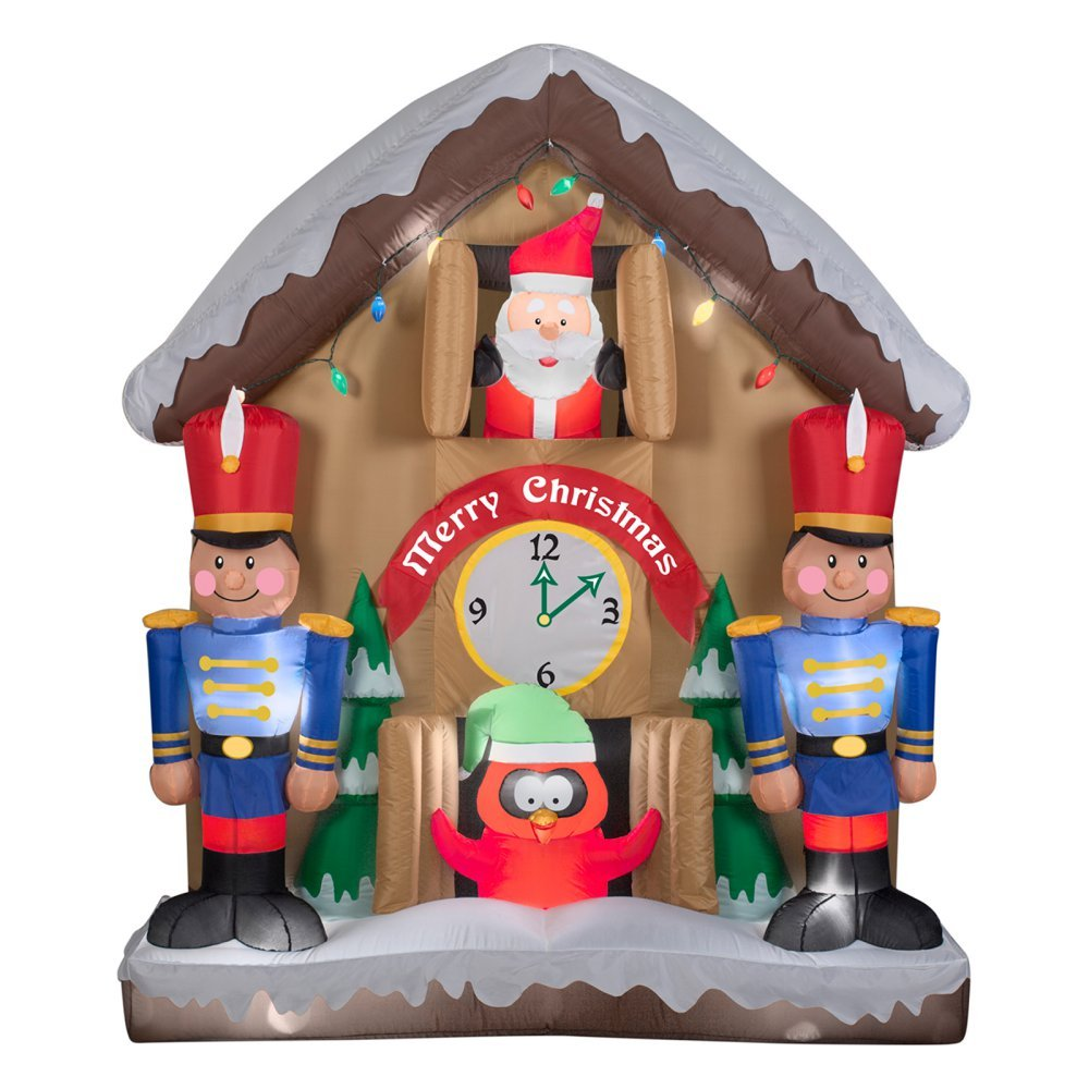 Amazon.com: Gemmy airblown Animated Reloj de Papá Noel ...