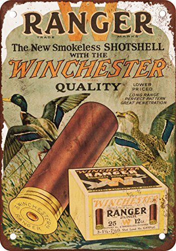 9 x 12 METAL SIGN - Winchester Ranger Shotgun Shells - Vintage Look Reproduction