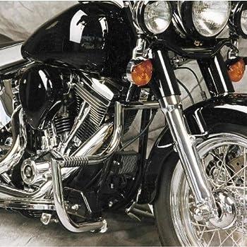LINDBY 102-1//09 Chrome Front Linbar Highway Bar Fits 1997-2016 Harley-Davidson Flh Touring Models