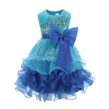 Teal and Purple Flower Girl Dresses