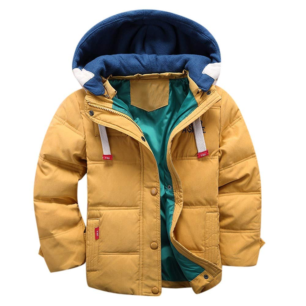 Amazon.com: 3-7 Years Kids Winter Hooded Coat Cloak Jacket,Girl Boys Thick Warm Outerwear Baby Clothes (4 Years, Yellow): Electronics