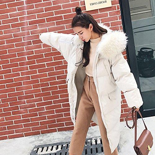 Creamy-blanc M Xuanku dans l'hiver De VêteHommests De Coton Et De Temps, Le Genou LÂche Veste Manteau en Coton Doux Harajuku Service De Pain