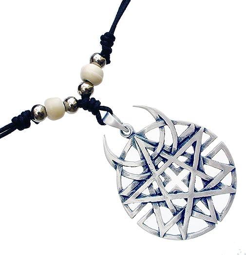 Amazon coexist star unbiased disturbed pewter pendant coexist star unbiased disturbed pewter pendant handmade adjustable beads necklace aloadofball Images