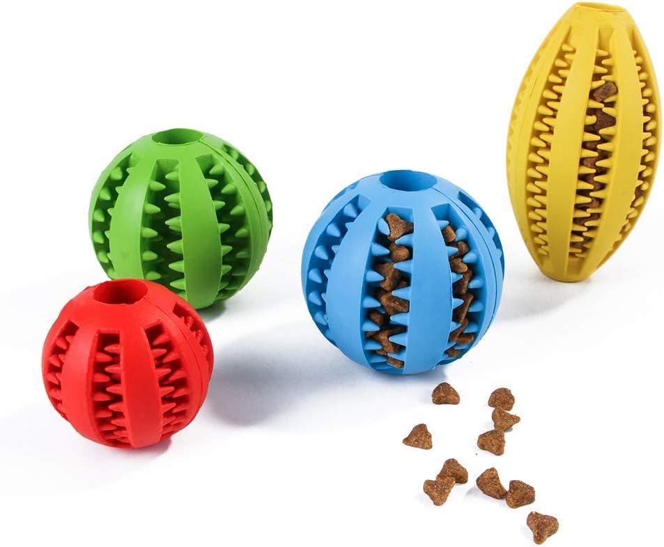 Athyior Pelota de alimentaci/ón para Perros Perro de Juguete Mordida de Bola Bola de Juguete Resistente Pelota de Limpieza de Dientes masticables para Mascotas para Mascotas Perros Cachorro Gato