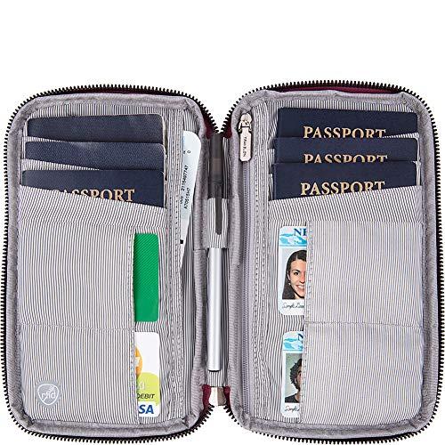 61BBorgH2dL - Travelon RFID Blocking Family Passport Zip Wallet, blossom Floral