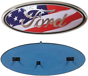 """9/"""" Inch for F150 AMERICAN FLAG Grille Rear Tailgate Oval Emblem Ranger Edge"""