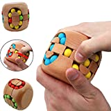 Wooden Brain Teaser Toy Colorful Beads Magic Cube