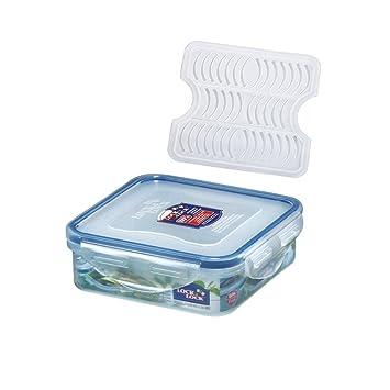Lock&Lock Classics Rectangular Food Container with Leak Proof Locking, 425ml Jars & Containers at amazon