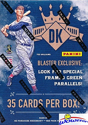 2017 Panini Diamond Kings Baseball EXCLUSIVE Factory Sealed Retail Box with SPECIAL Green Framed Parallel Look for RC's & Autographs from Aaron Judge, Cody Bellinger, Andrew Benintendi & More! WOWZZER