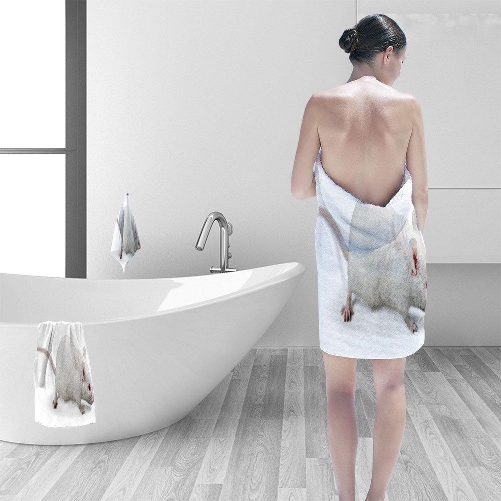 Nalahomeqq Hand towel set Animal lab test personality printPolyesternon-mildewpattern custom made19.7''x19.7''-13.8''x27.6''-31.5''x63''