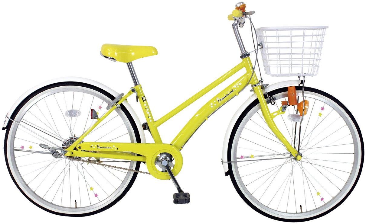 C.Dream(シードリーム) フェミニン FM21 22インチ自転車 子供自転車 イエロー 100%組立済み発送 B0148O4R2K