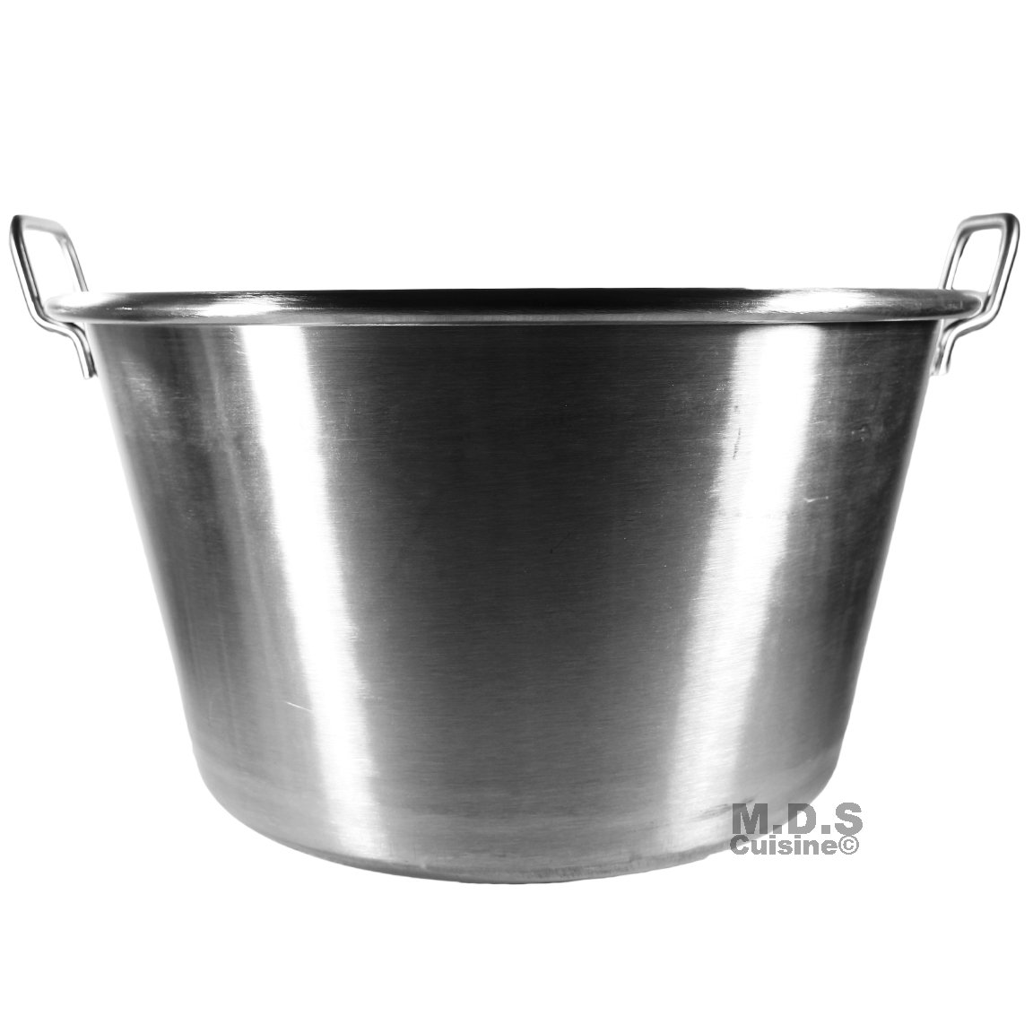 Large Cazo Stainless Steel 21'' Caso para Carnitas Gas Heavy Duty Wok Acero Inoxidable by M.D.S Cuisine Cookwares (Image #6)