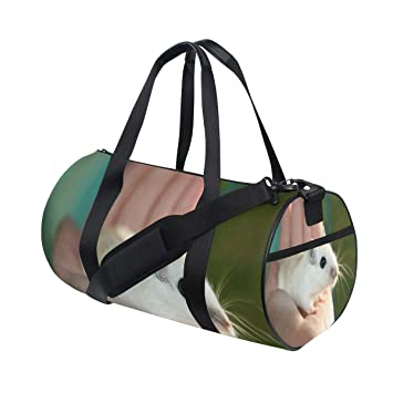 Amazon.com   Duffel Bags Mouse In Hand Womens Gym Yoga Bag ...