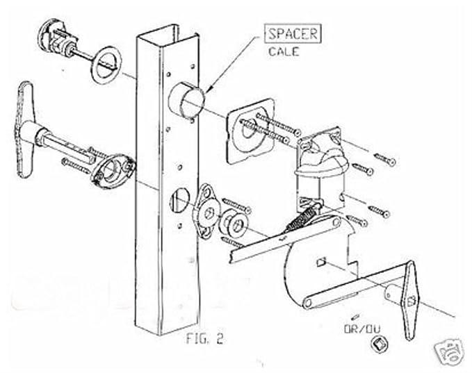 Garage Door Lock Set 1 Car Door Torsion Spring
