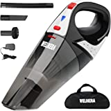 Welikera 掃除機 充電式掃除機 ハンディ/乾湿両用クリーナー LEDライト付きコードレス掃除機 強力吸引