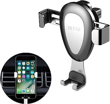 Skyee Soporte Movil Coche Rejilla de ventilación [Automático Gravedad], Universal Soporte Teléfono Coche para Rejillas del Aire para iPhone X/8/7 Plus y más Smartphones y Dispositivo GPS: Amazon.es: Electrónica