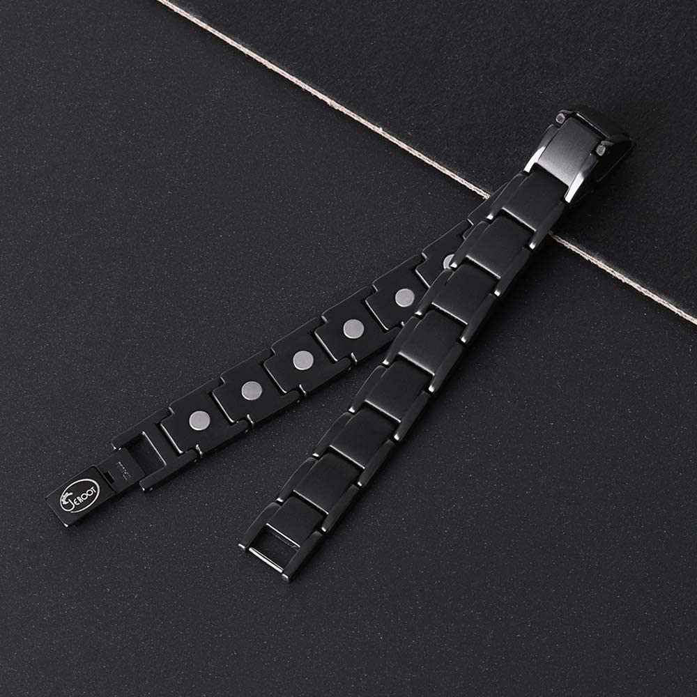Jeroot Bracelet Magnetique,Bracelets Magn/étiques Titane Magnetique Bracelet Homme Lien libre Suppression