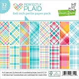 Lawn Fawn Perfectly Plaid 6 x 6 Petite Paper Pack offers