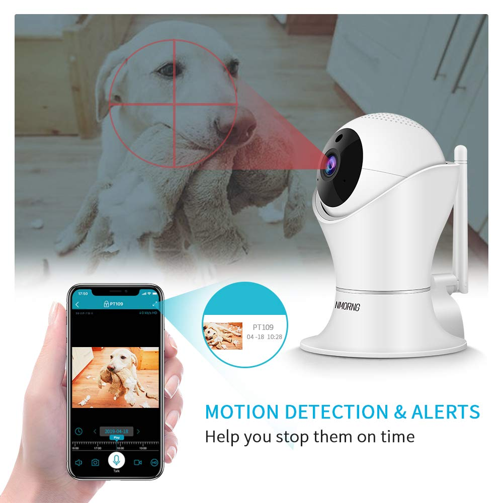 Pet Camera, 1080P Home Security Camera with Night Vision, Two-Way Audio, WIFI IP Camera for Baby Monitor, Auto-Cruise Baby Camera, Remote Control by App Indoor Camera, Cloud Storage by NMORNG (Image #5)