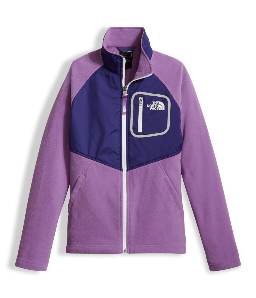 The North Face Girl's Glacier Track Jacket - Bellflower Purple - XL (Past Season) by The North Face