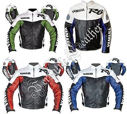 Yamaha R6 Chaqueta para moto de piel: Amazon.es: Coche y moto