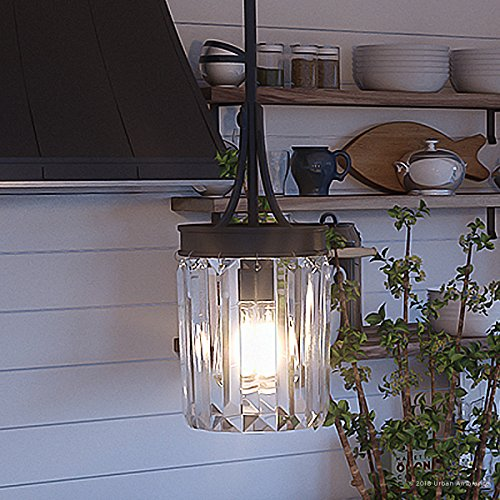 Luxury Crystal Pendant Light, Small Size: 11.25