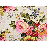 """Designer 43"""" Wide Floral Printed Cotton Fabric Sewing Craft Material By The Yard"""