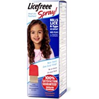 Licefreee Head Lice Spray - Lice Treatment for Kids and Adults - Kills Lice and Eggs on Contact - Includes Professional Metal Nit and Lice Comb - Family Size - 12 Oz
