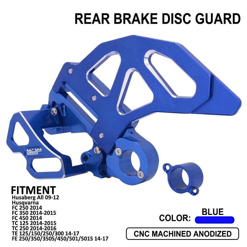 AnXin CNC Rear Brake Disc Guard + Rear Brake Caliper Guard - Fit For Husqvarna FC250 FC350 FC450 TC125 TC250 TE125 TE150 TE250 TE300 FE250 FE350 FE350S FE450 FE501 FE501S Husaberg All Models