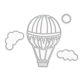 bismarckbeer Heißluftballon Wolken Metall schneiden stirbt ...