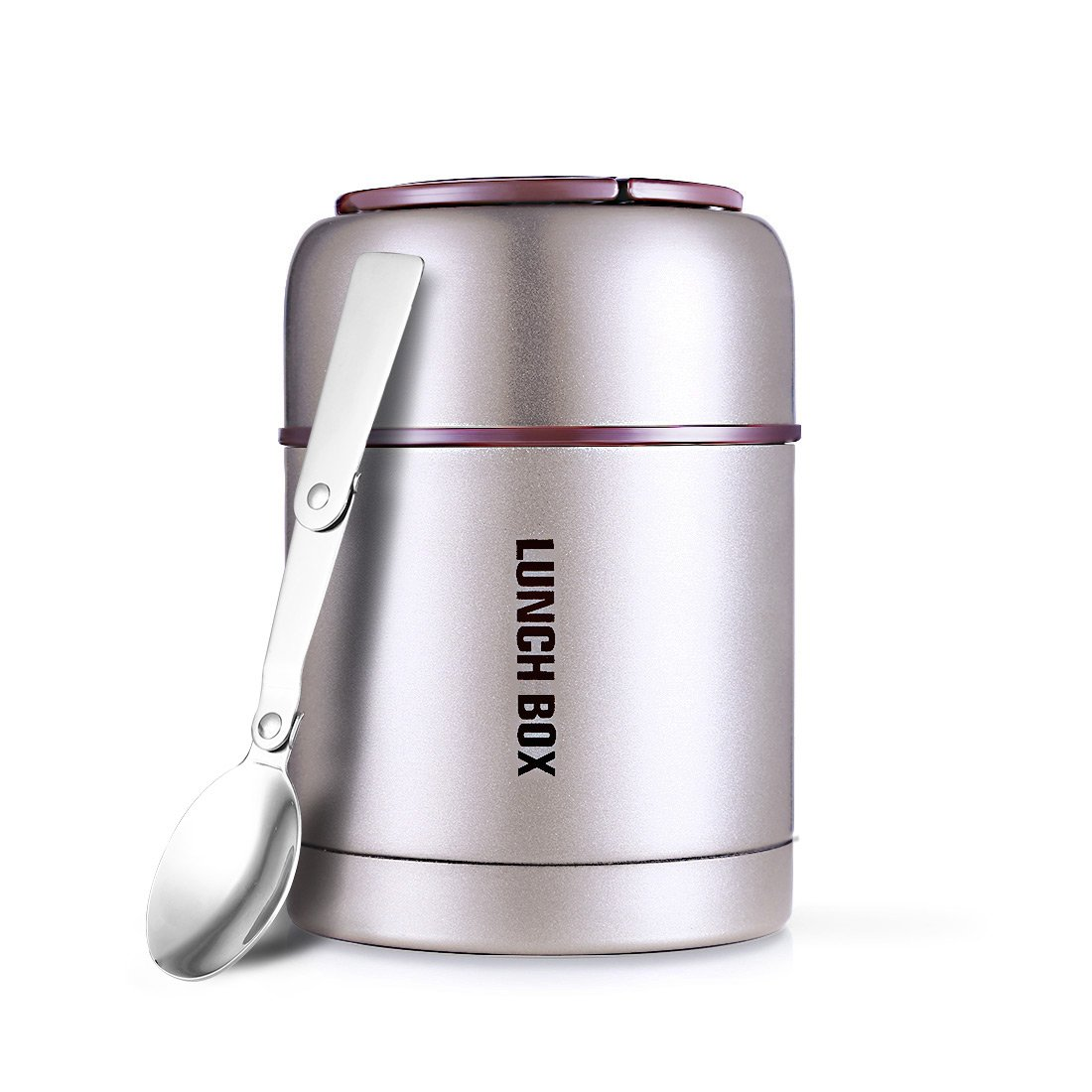 Oneisall cibo, 800ml, in acciaio INOX per cibo thermos contenitore con cucchiaio pieghevole e con manico per cibo caldo Pink Huizhou Feimao Technology Co. Ltd.