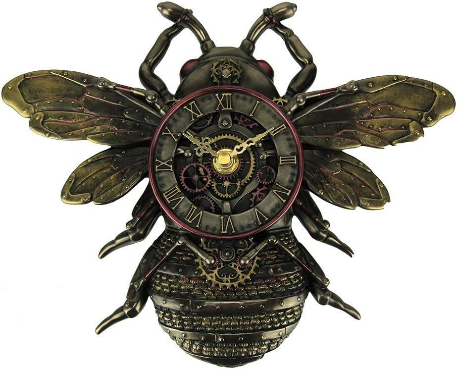 Veronese Design Steampunk Style Bronze Finish Honeybee Wall Clock