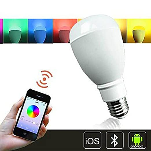 Amazon.com: H + LUX 13 W E26/A19 Bluetooth Smart LED foco de ...