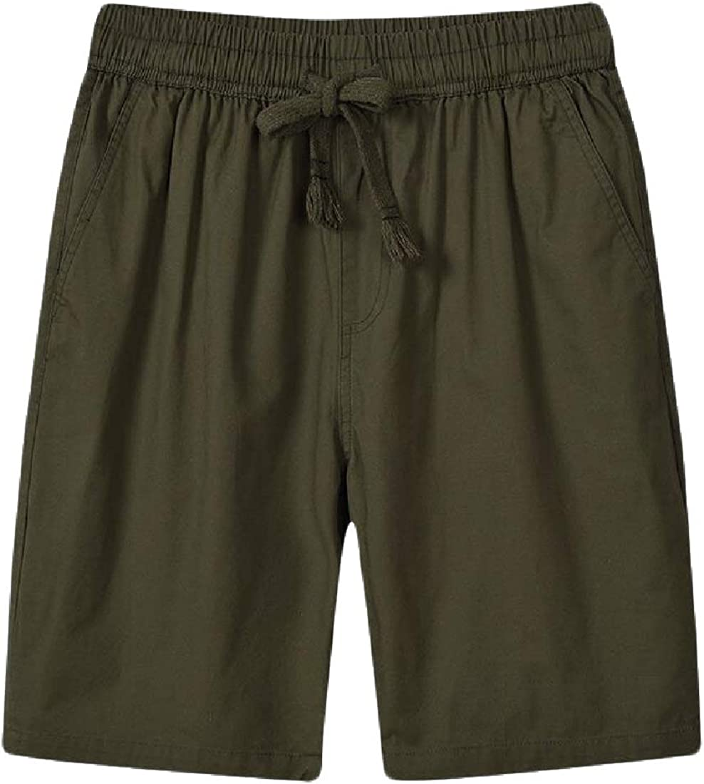 Macondoo Men Casual Cozy Elastic Waist Workout Breathable Sport Shorts