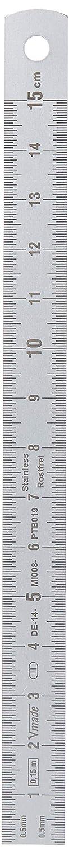 Edelstahl-Lineal Unterteilung auf beiden Seiten 150/x 13/x 0,5/mm