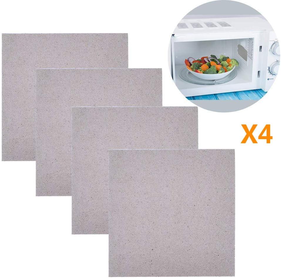Impression 4 pcs Placas de Mica Hoja de Mica Universal para los Hornos de Microondas 13 x 13cm