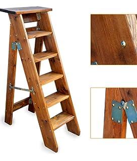 Escalera de Madera 5 Pasos Plegables Plegables sillas para ...