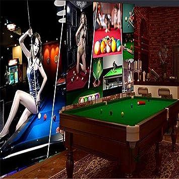 Mural De Papel Tapiz 3D Sala De Billar Tridimensional Decoración ...
