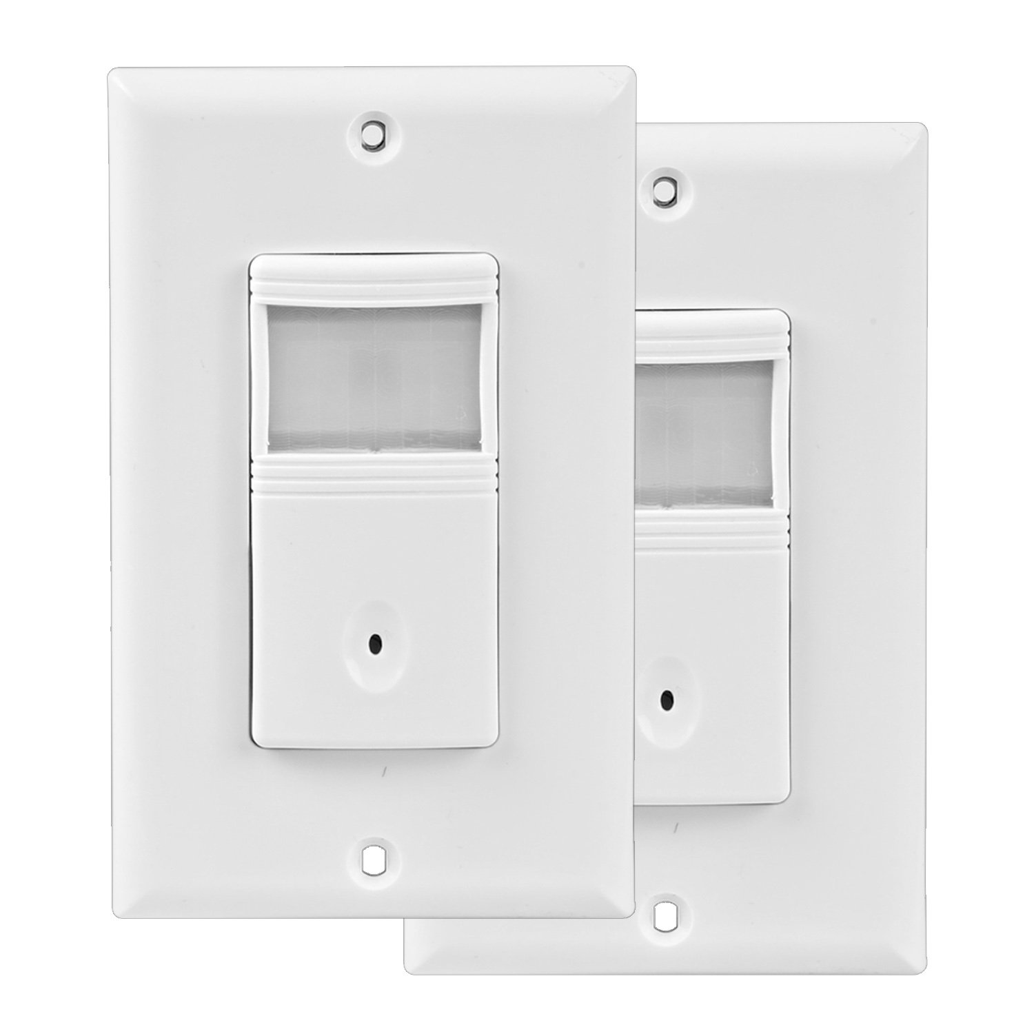Hykolity Vacancy & Occupancy PIR motion sensor wall switch,Neutral Wire required, Single-Pole,Automatic and Manual ON/OFF for lights、Corridor and Staircase-2 Pack
