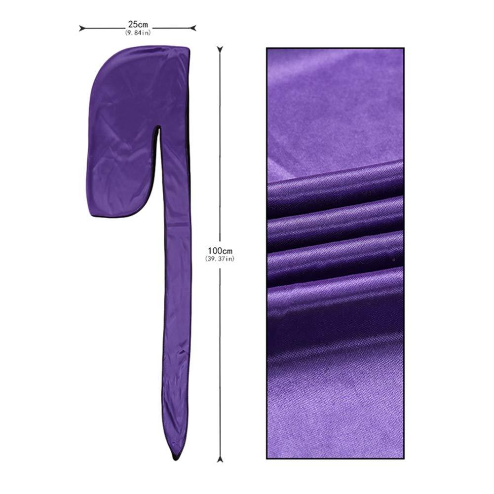 FANTESI 4 Pi/èces Durag en Soyeux Doux avec Longue Queue et Larges Bretelles pour 360 Vagues Headwraps Casquette
