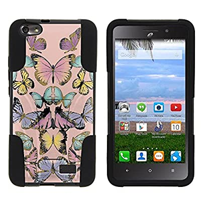 Huawei Raven Case, Full Body Fusion STRIKE Impact Kickstand Case with Exclusive Illustrations for Huawei Raven LTE H892L (Straight Talk) by MINITURTLE