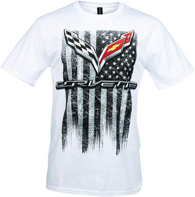 Medium, White C7 Corvette American Legacy Mens T-Shirt