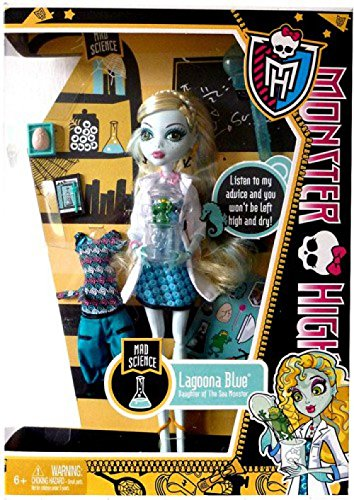 40dc381518ed Image Unavailable. Image not available for. Color  Monster High Lagoona  Blue Mad Science ...