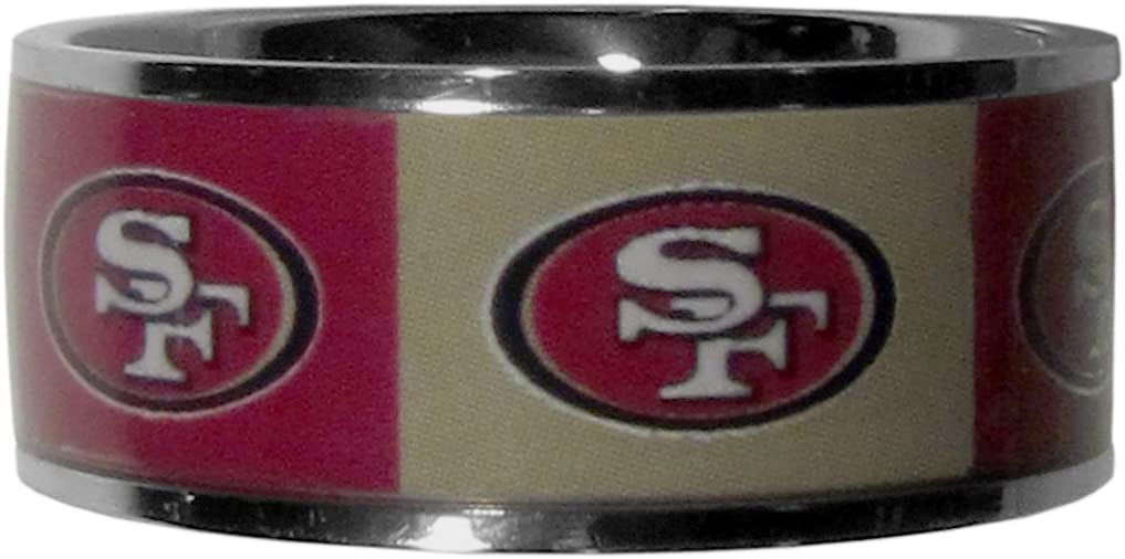 NFL Womens Steel Inlaid Ring Size 12