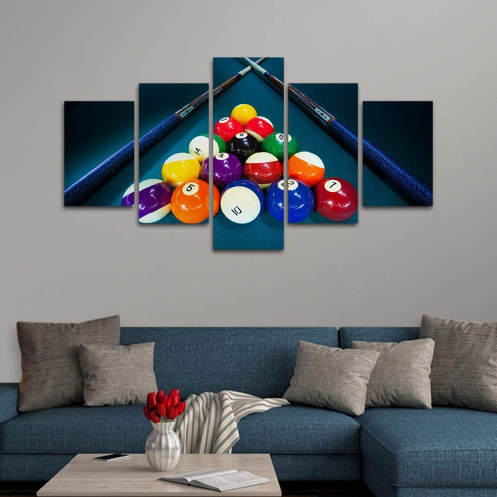 QJXX Mural Decoración Jugar Billar Triángulo Mesa De Billar Imágenes Impresiones Cuadros en Lienzo Póster Deportes Ilustraciones para Bar Niños Habitación Decoración,A,40cm*60x2+40x80x2+40x100x1: Amazon.es: Hogar