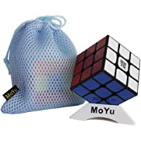MoYu Weilong GTS2M V2M Magnetic Magic Cube Weilong GTS 2M Magnetic Magic Cube 3x3x3 Speed Cube Puzzle (Black) + One Cube Bag and Cube Stand