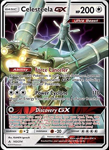 Celesteela GX 163/214 - Ultra rare - Unbroken Bonds - NM/M - Guaranteed authentic (Pokemon Sun And Moon Pre Order Record)