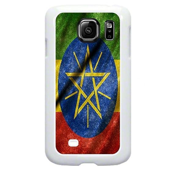 Amazon Ethiopian Flag Tm Samsung Galaxy S7 Edge White Plastic