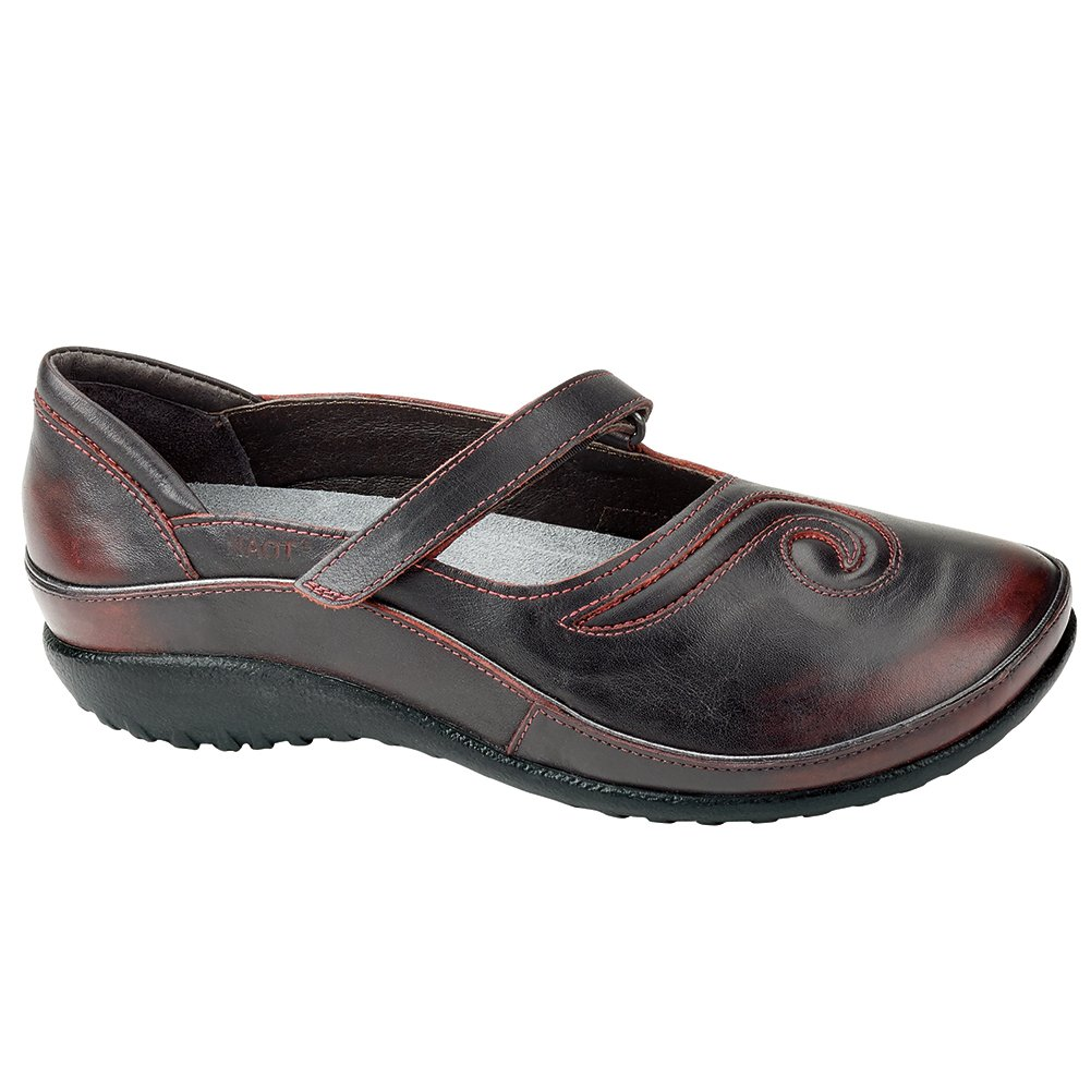 NAOT Matai Koru Women Flats Shoes B01M67DGDW 35 M EU|Volcanic Red Leather